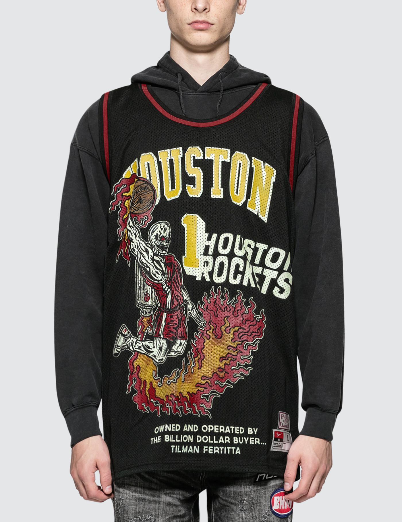 f06f6269626 Warren Lotas Rockets Fallas Classics Jersey in Black for Men - Lyst