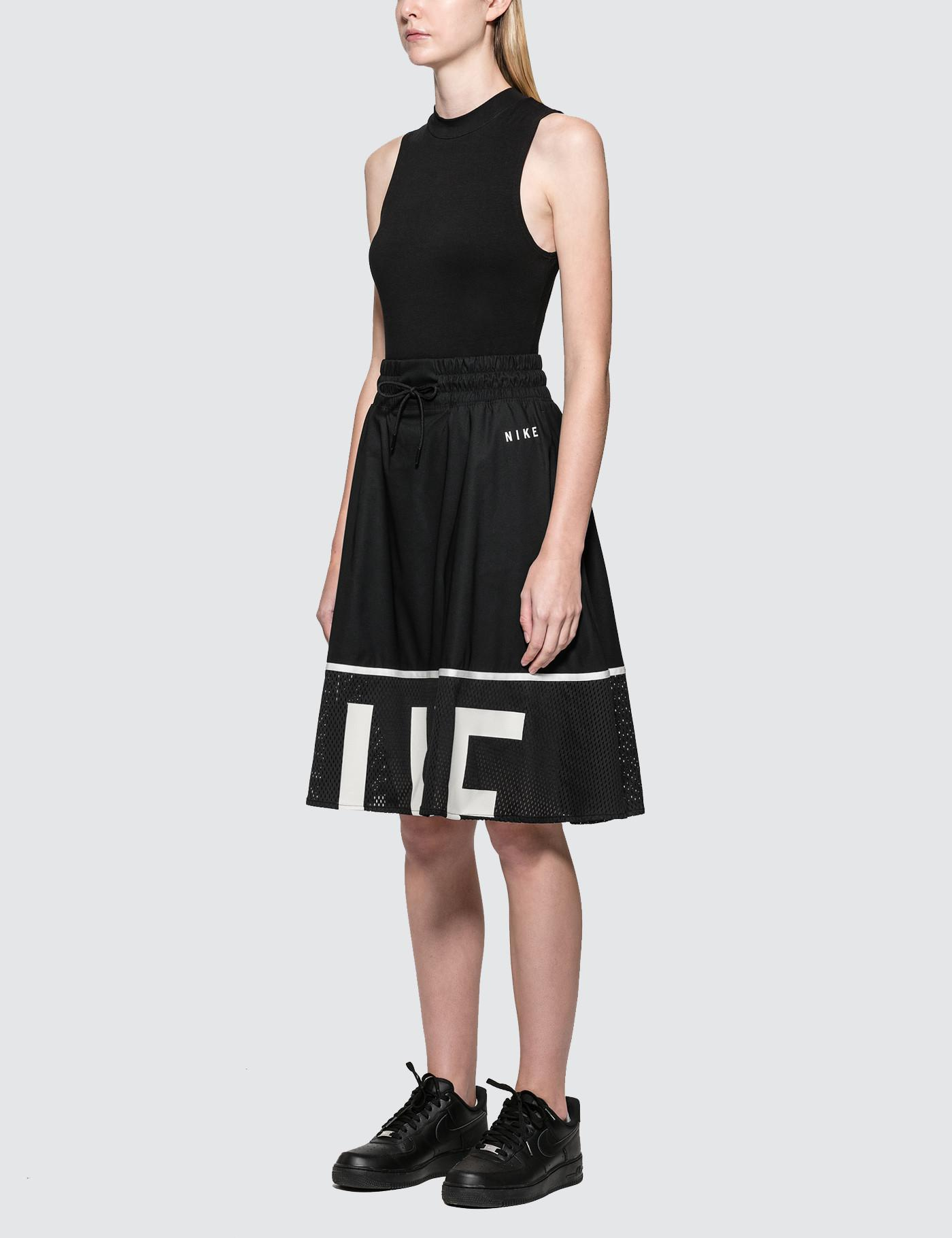 Lyst Nike Nsw Mesh Skirt In Black