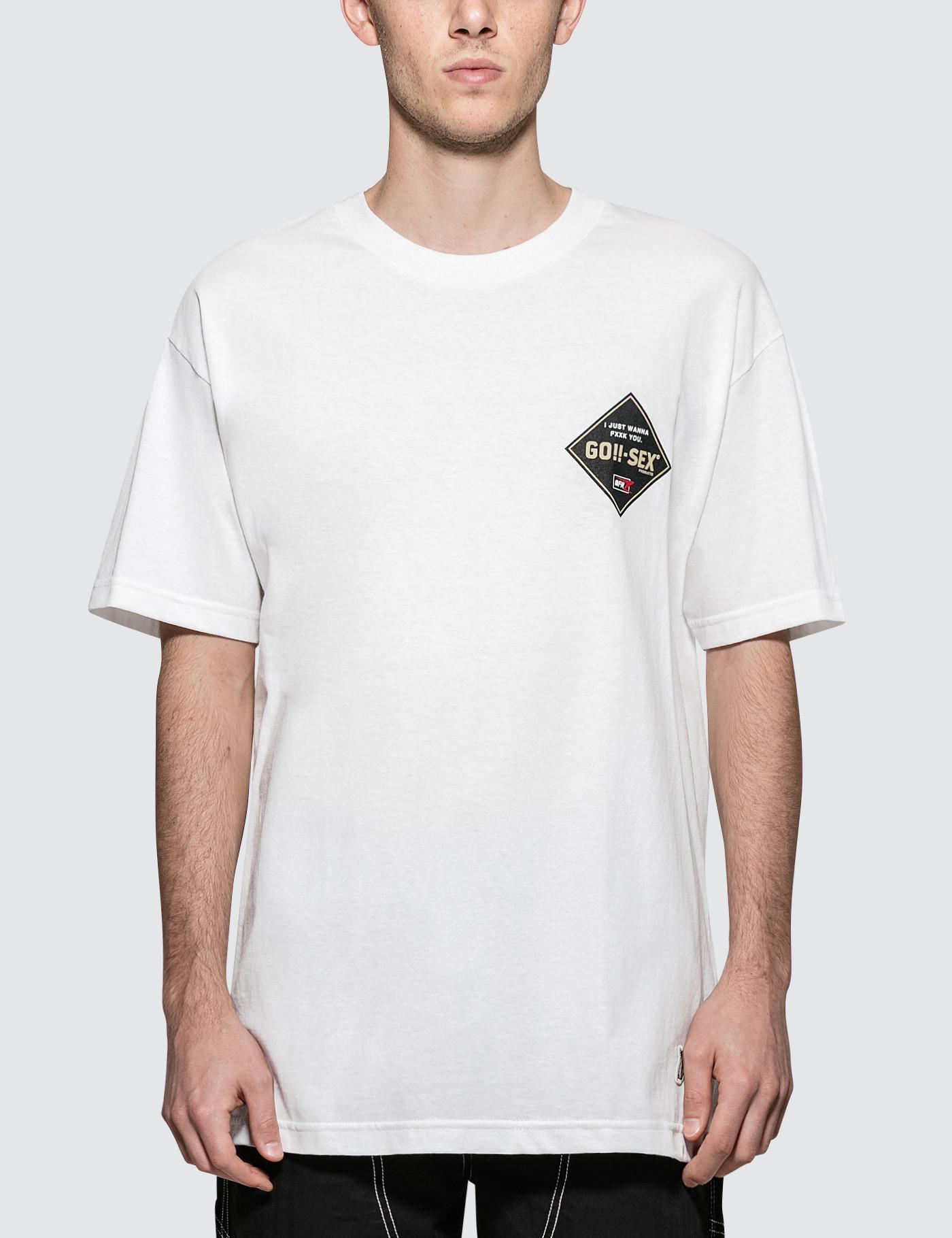 ae0773379df Lyst -  FR2 Go-sex S s T-shirt in White for Men