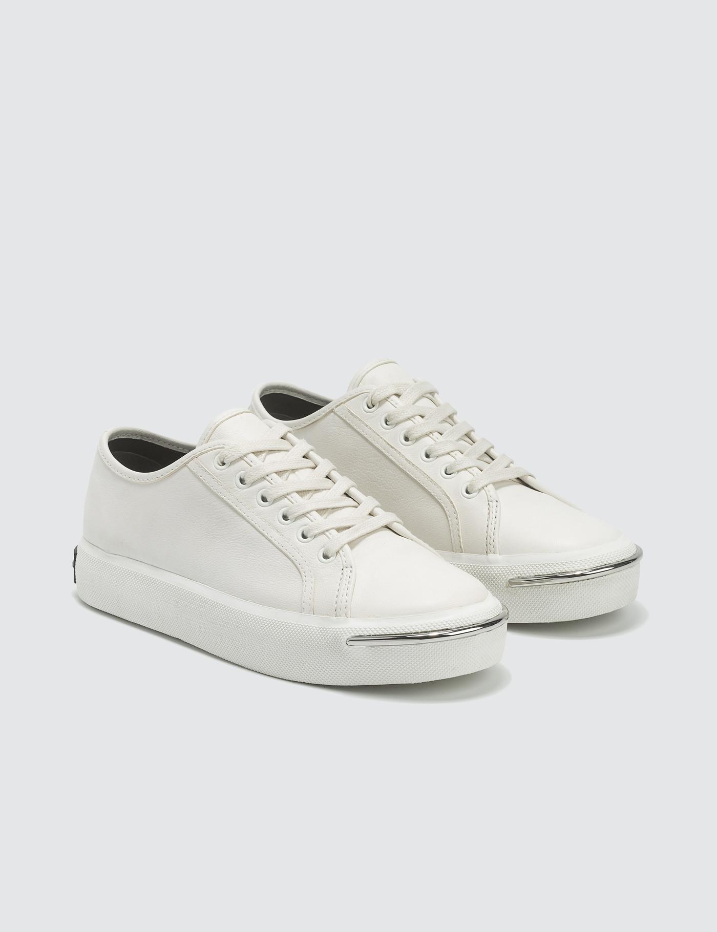 3c983d0f56af Alexander Wang - Pia Low White Leather Sneakers - Lyst. View fullscreen