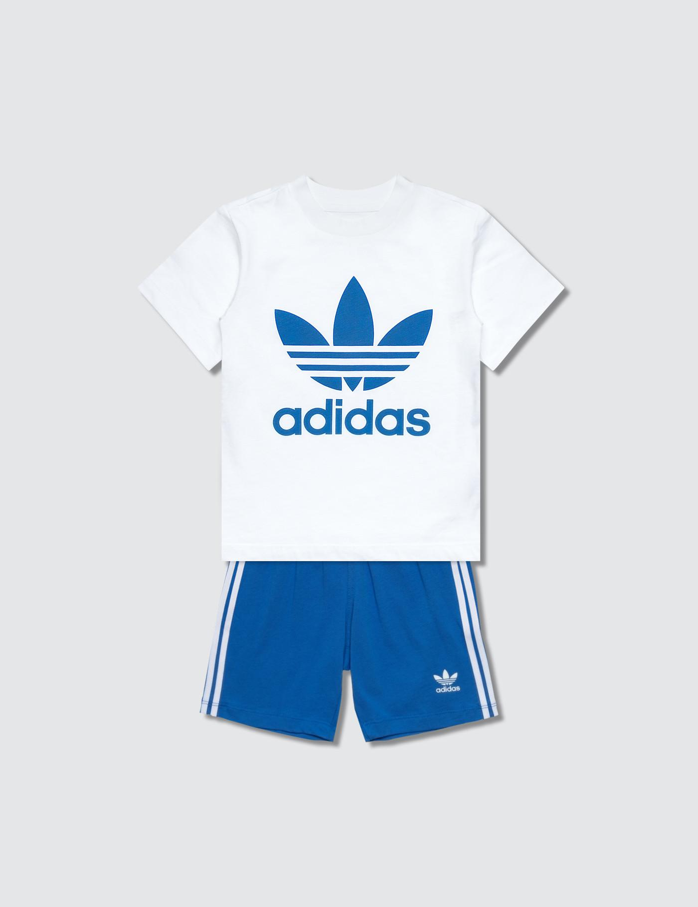 afe3af51 adidas Originals Shorts & T-shirt Set in Blue for Men - Lyst