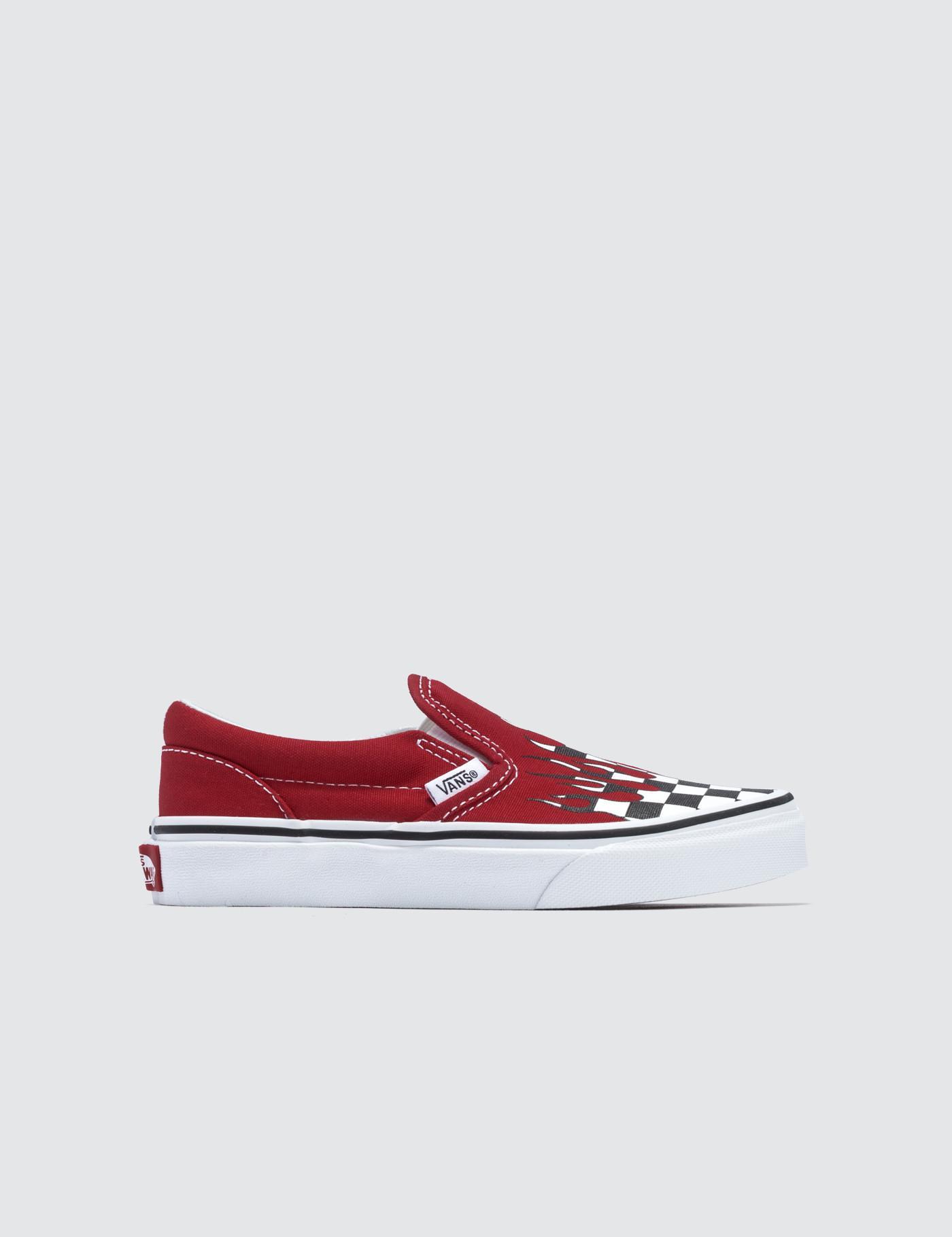 0c129981038fab Vans - Red Classic Slip-on Kids for Men - Lyst. View fullscreen