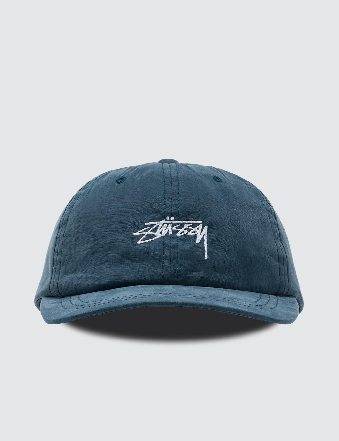 ecebd802720 Lyst - Stussy Peached Smooth Stock Low Pro Cap in Blue for Men