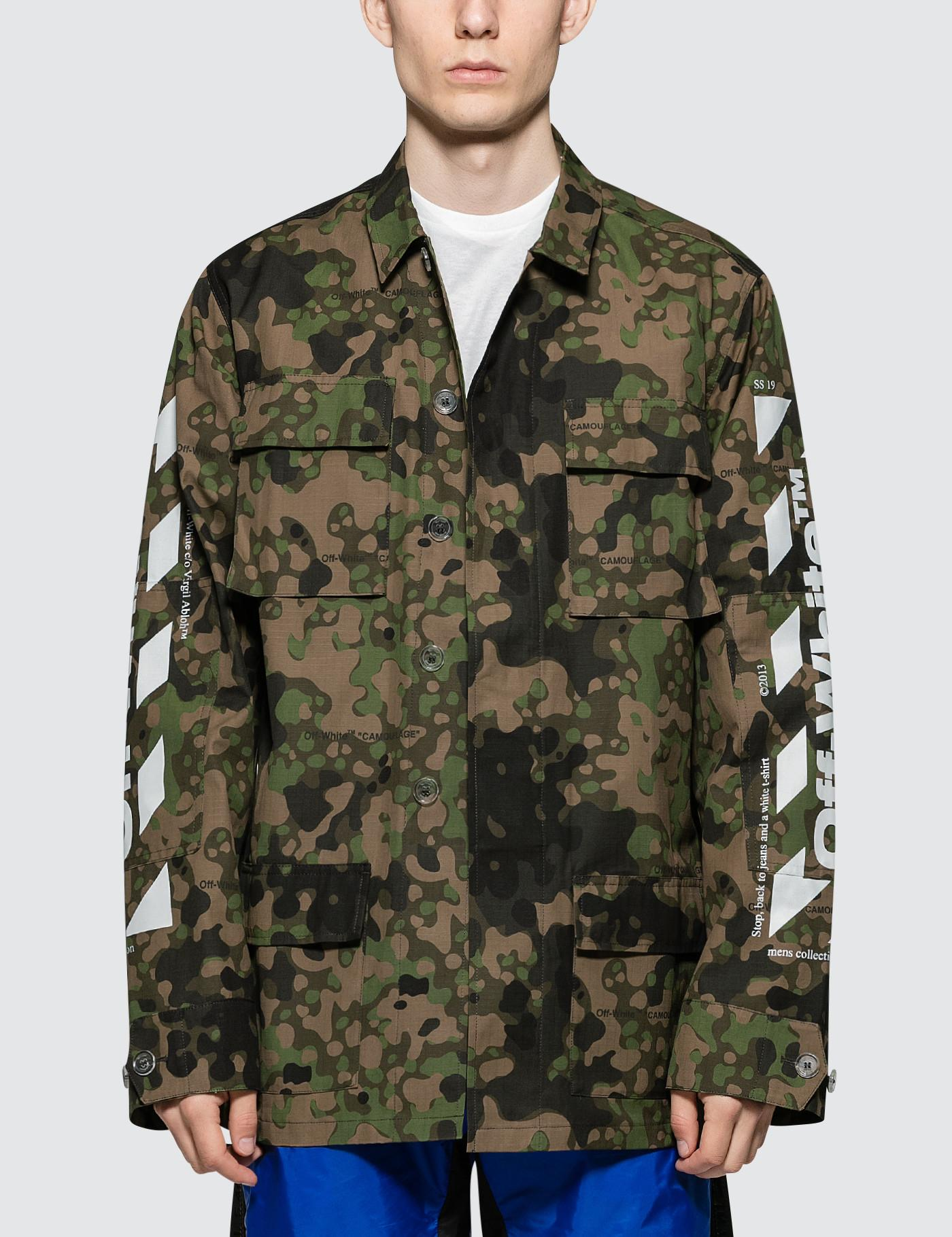 c431ff2b23a6 Lyst - Off-White c o Virgil Abloh Diag Camo Field Jacket in White ...