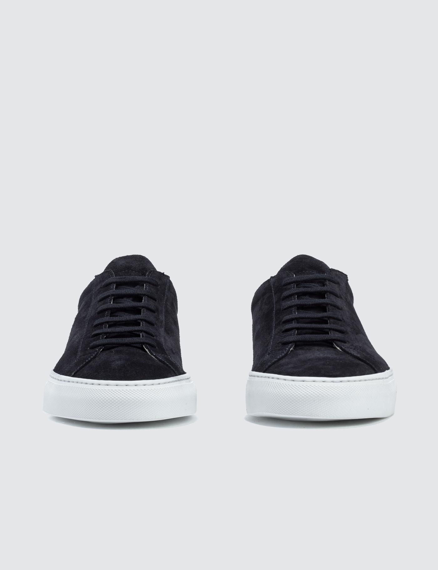 3a75735104fd Lyst - Common Projects Original Achilles Low Suede Sneaker in Black for Men  - Save 61%