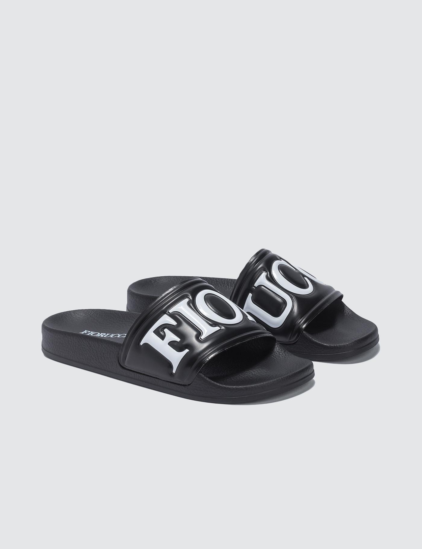 5bcc9c71300 Fiorucci Rubber Slides in Black - Lyst