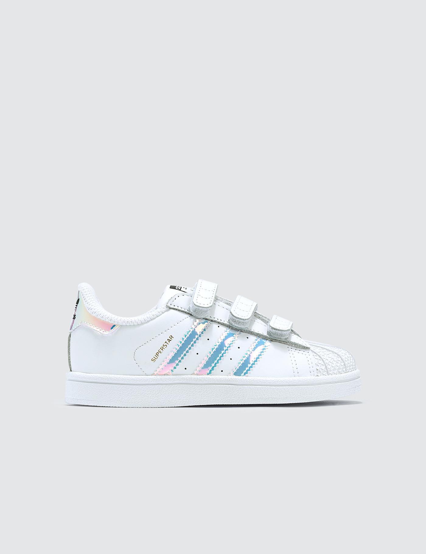 Lyst Adidas Originals Superstar Cf Infants In White