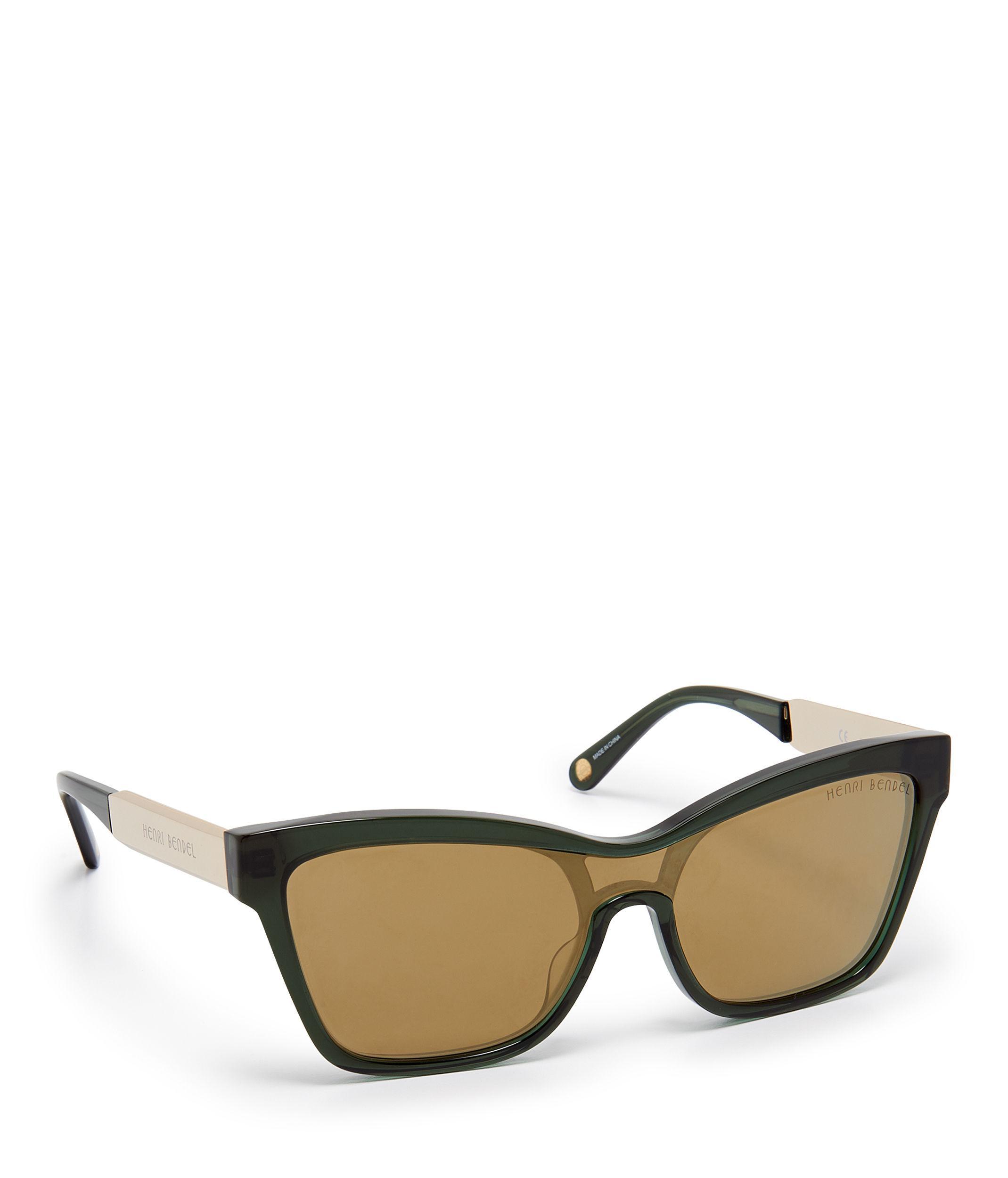 66219efb7f Henri Bendel - Green Elena Square Sunglasses - Lyst. View fullscreen