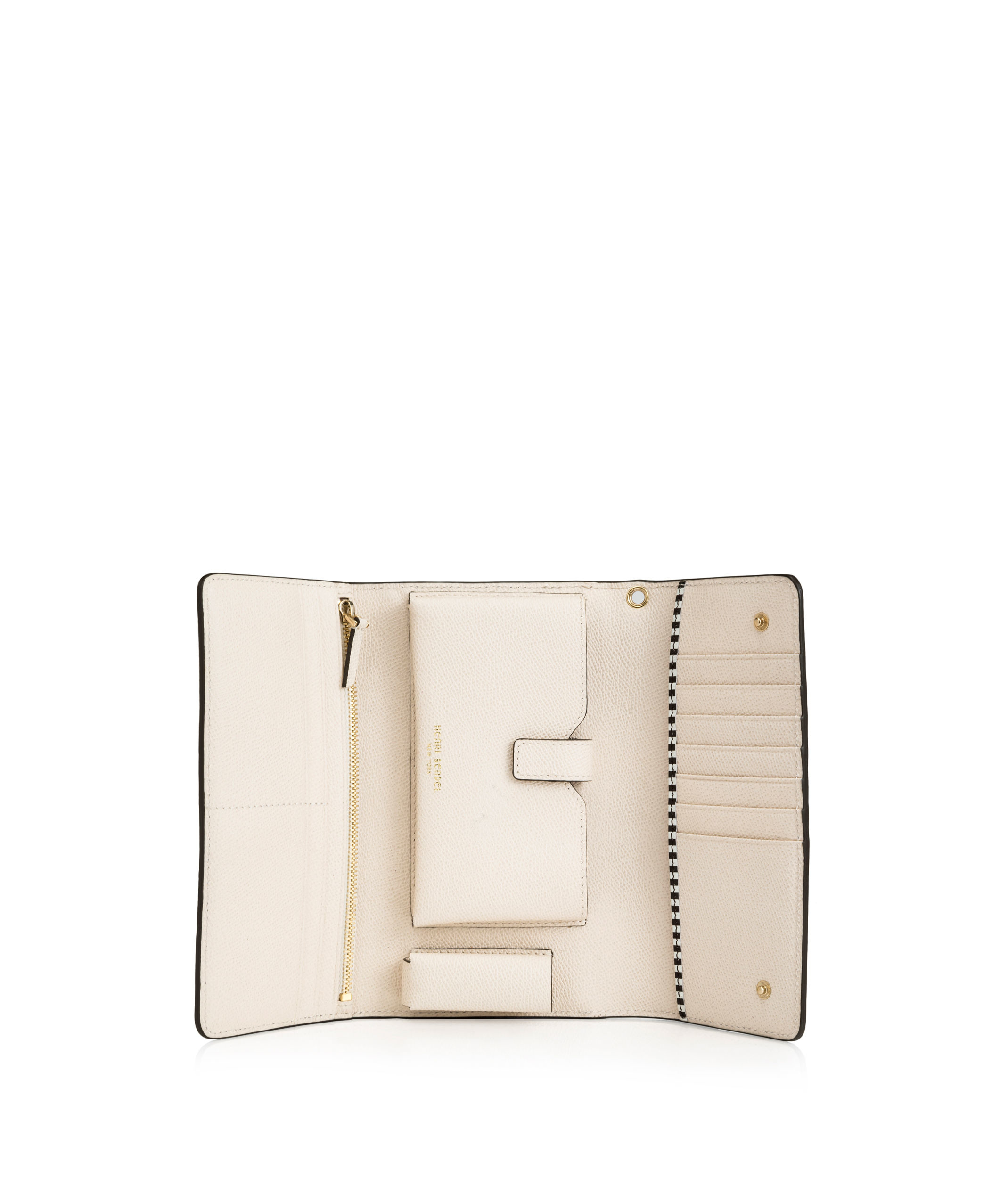 Henri Bendel Uptown Out & About Wallet In White