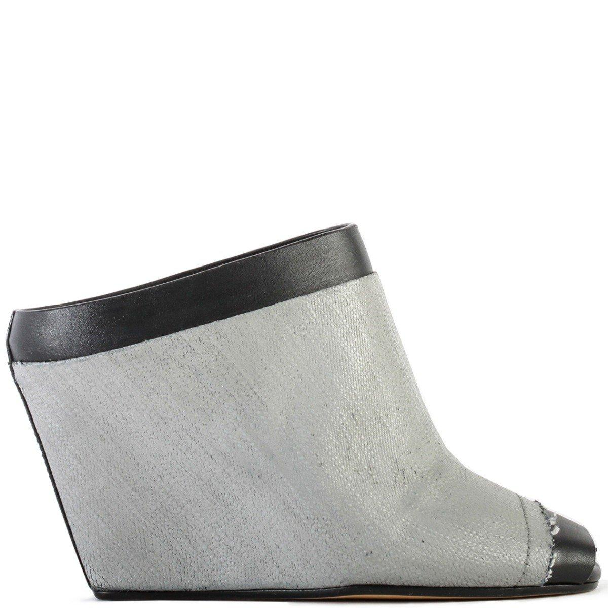 dc14e5b76980 Lyst - Rick Owens Wedge Slide Sandals Black oyster