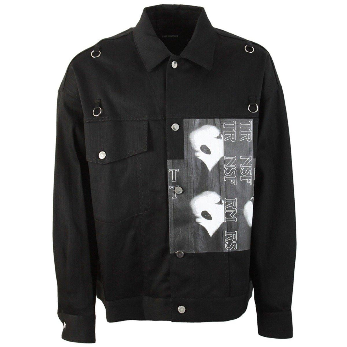 6d5a4786c8d Lyst - Raf Simons Black Denim Oversized Head Jacket in Black - Save 12%
