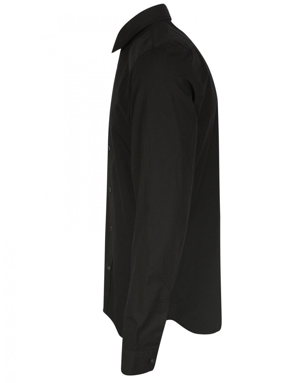 Lyst maison margiela classic black button down cotton for Black oxford button down shirt