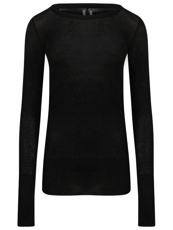 Lyst rick owens women 39 s raw edge rib t shirt black in black for Raw edge t shirt women s