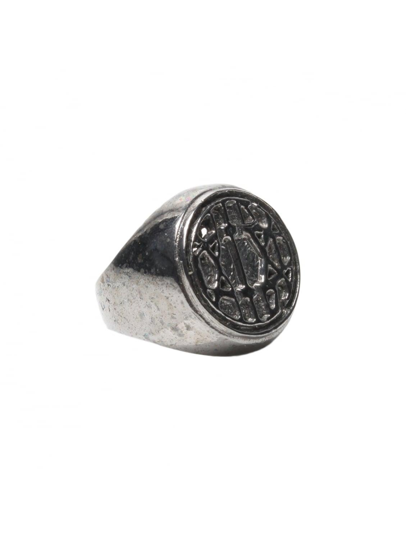 ktz alpaca logo ring silver in metallic lyst