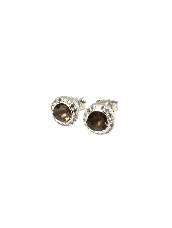 Rosa Maria serpentine and diamond studs - Metallic qZNKm