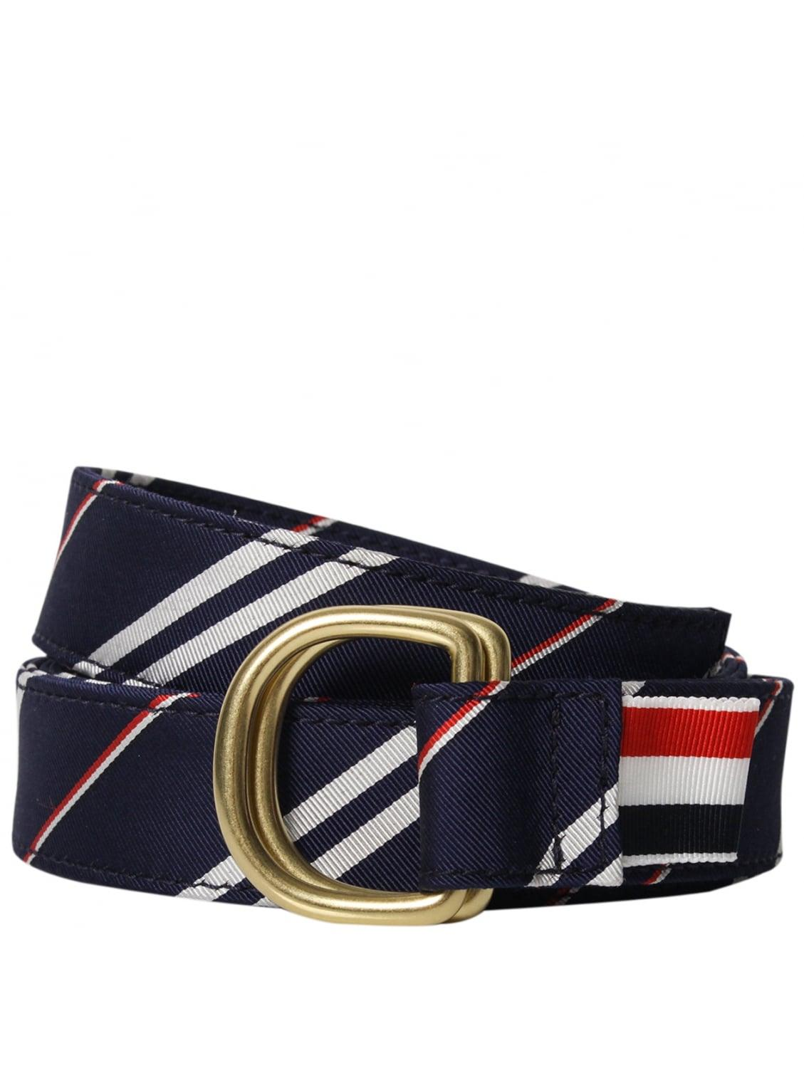 thom browne stripe silk ring belt navy in blue lyst