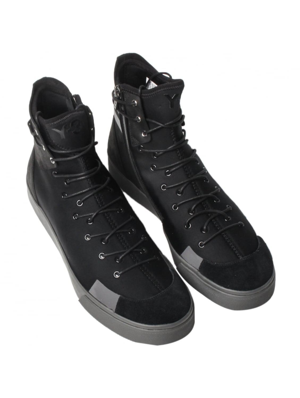 034cd64c17c47 Y-3 Sentinel High Zip Sneakers in Black for Men - Lyst