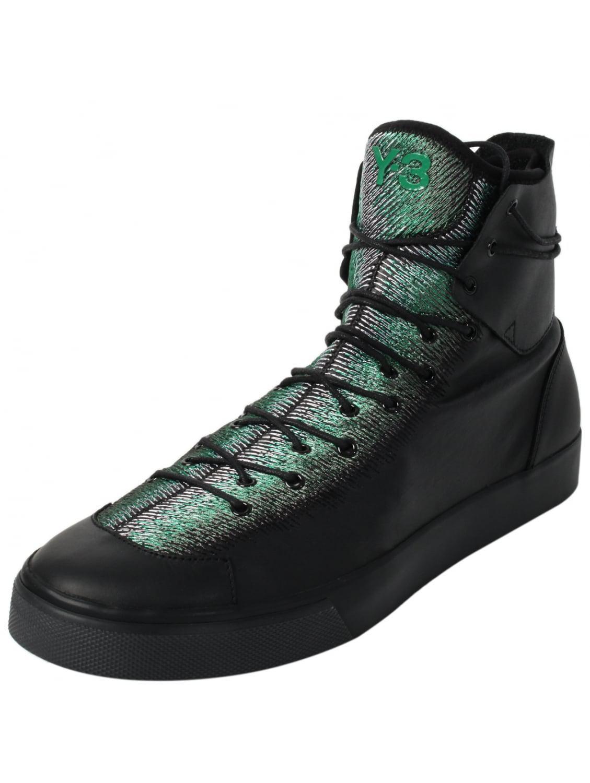 7a6cbd26d8e Y-3 Sentinel High Zip Sneakers Green in Green - Lyst
