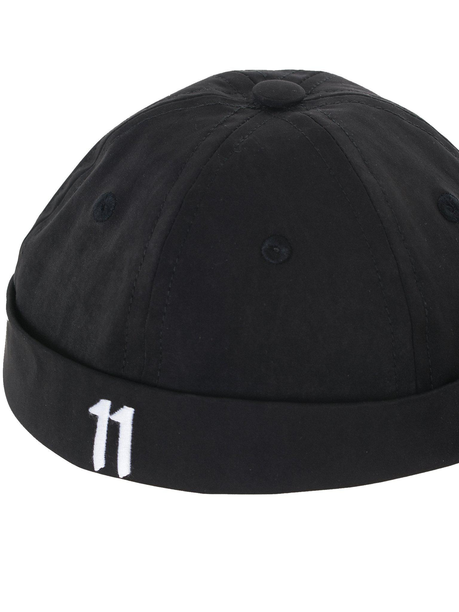 5ec3cbbb39fe6 ... greece lyst boris bidjan saberi 11 embroidered brimless cap in black  for men 1c3d5 74774