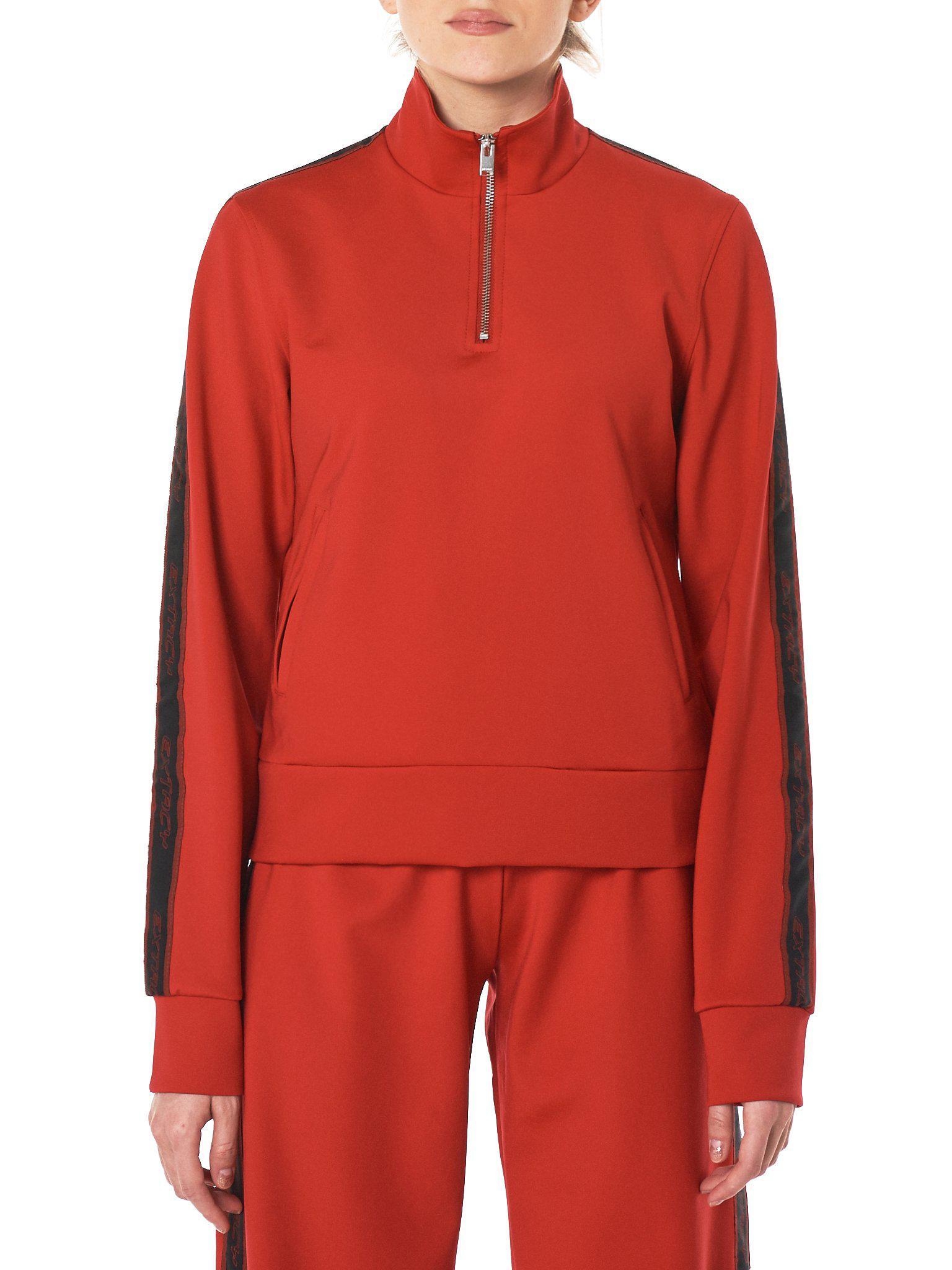 Lyst m i s b h v extacy half zip track jacket in red misbhv womens red extacy voltagebd Gallery