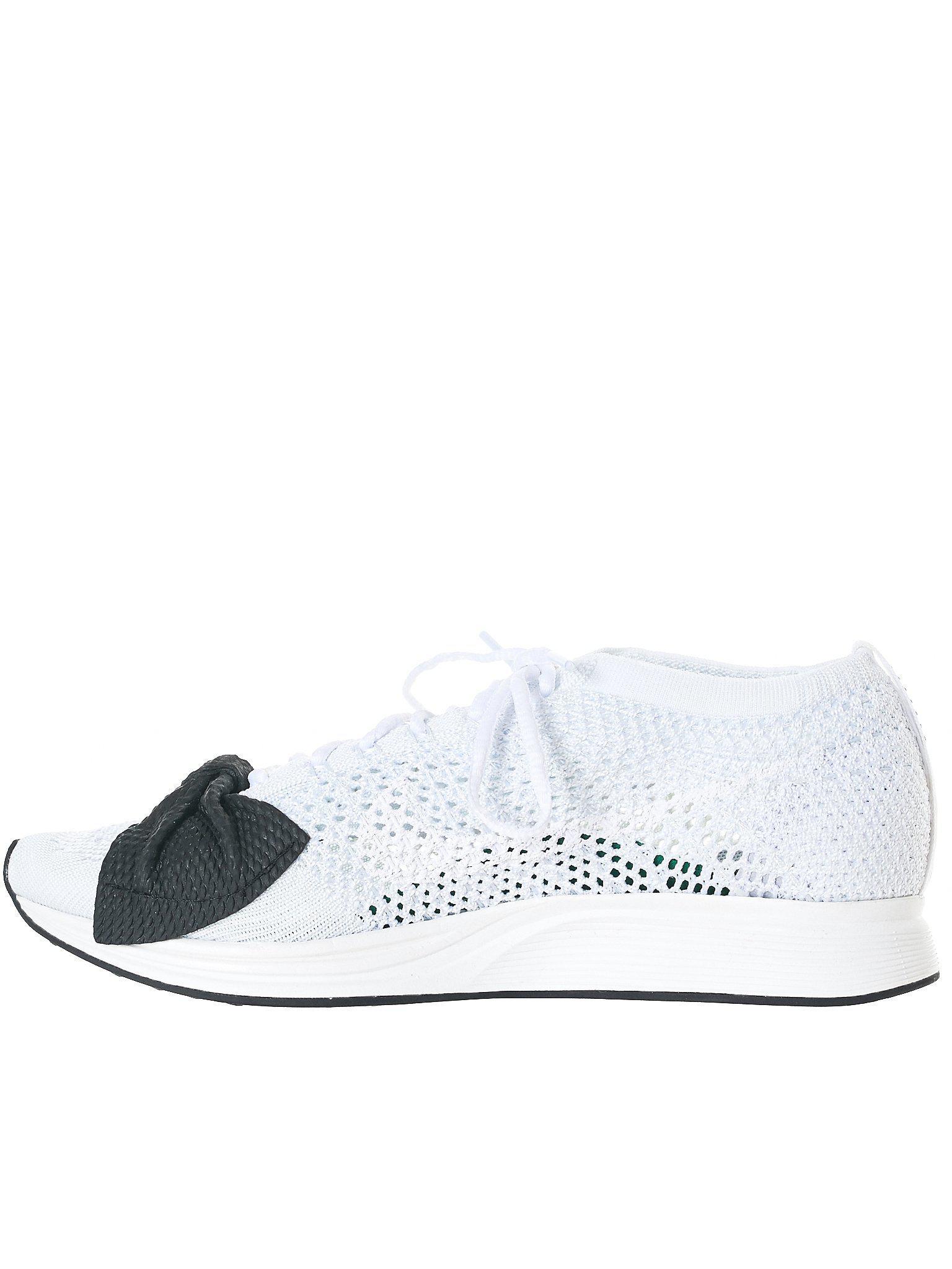 99f5b10576a Lyst - Comme des Garçons Bowtie Nike Flyknit Racers in White