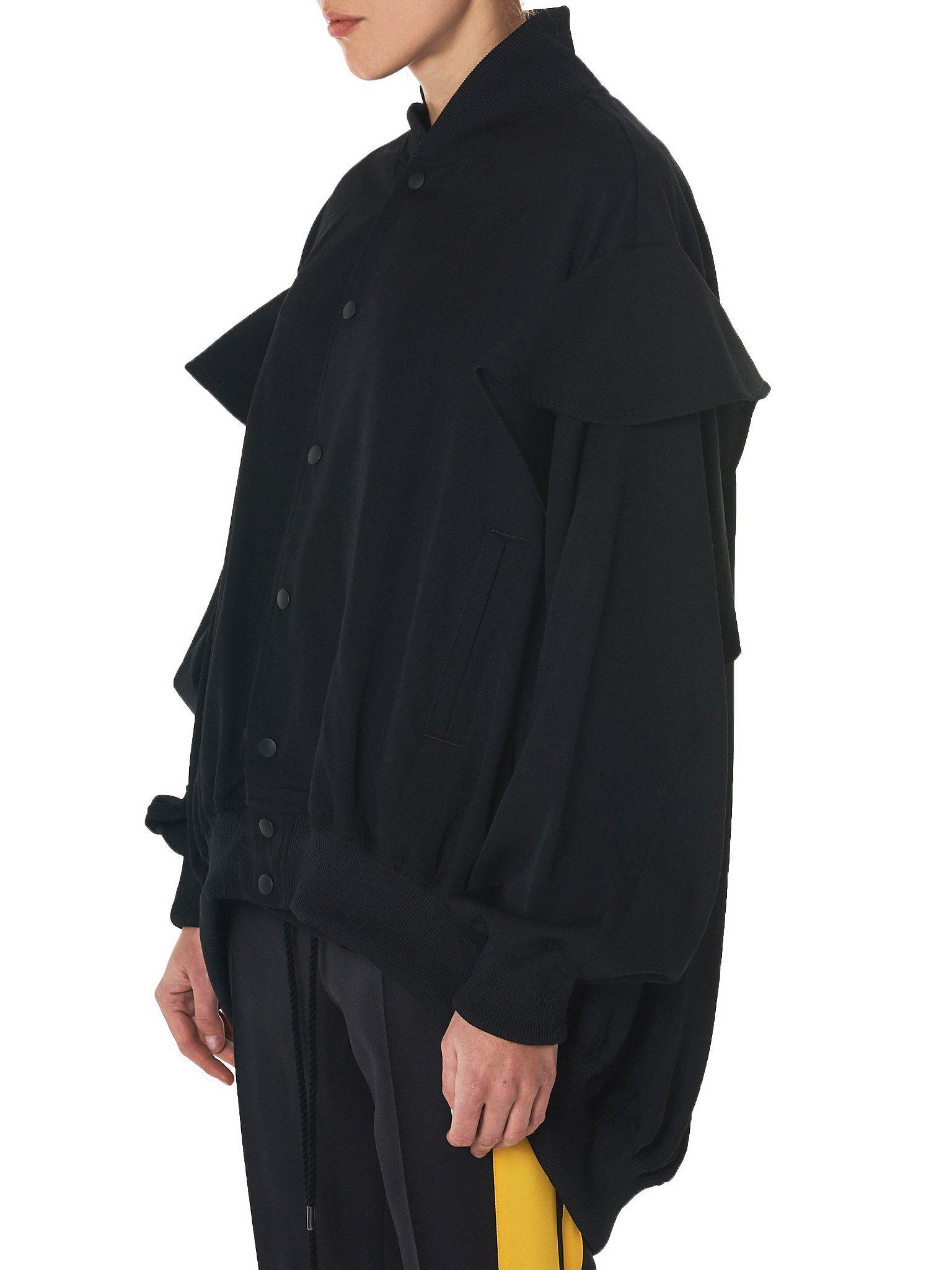 Lyst - Yohji Yamamoto Gabardine Blouson Jacket in Black c22c542478