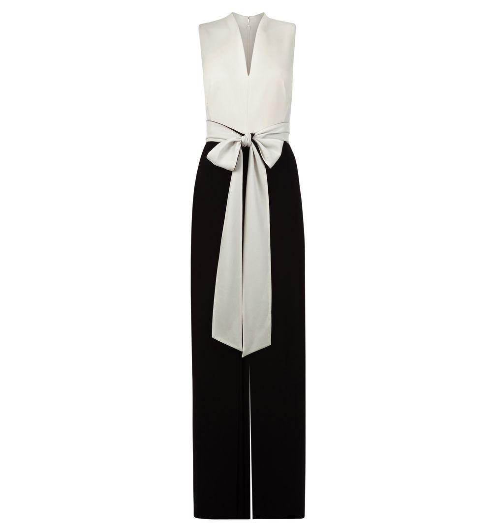 759db9f0df9 Lyst - Hobbs Chloe Color-block Tie-waist Jumpsuit in Black
