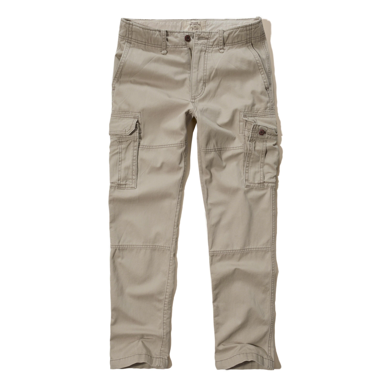 Hollister Slim Straight Cargo Pants in Gray for Men | Lyst
