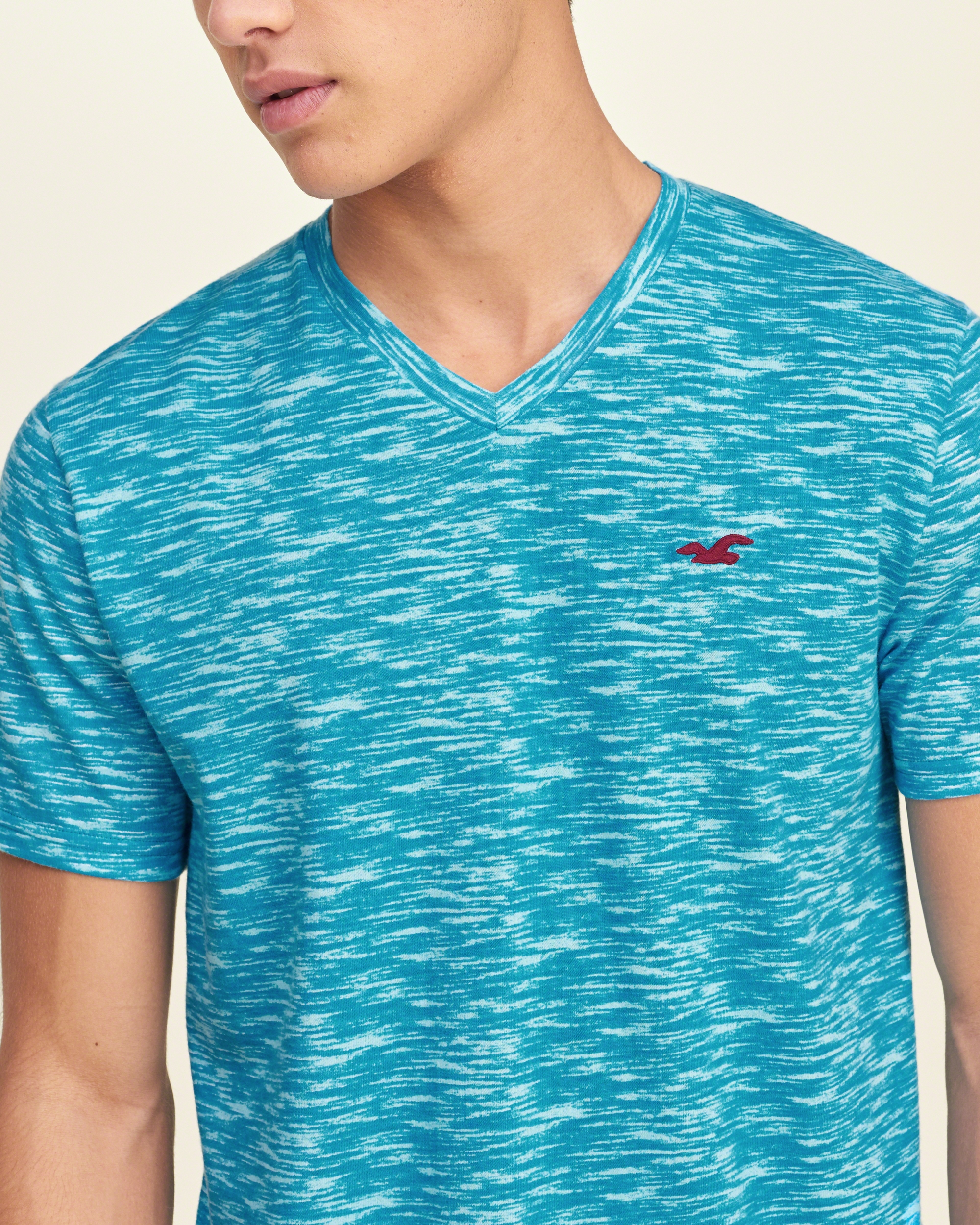 Lyst hollister must have v neck t shirt in blue for men for Must have dress shirts