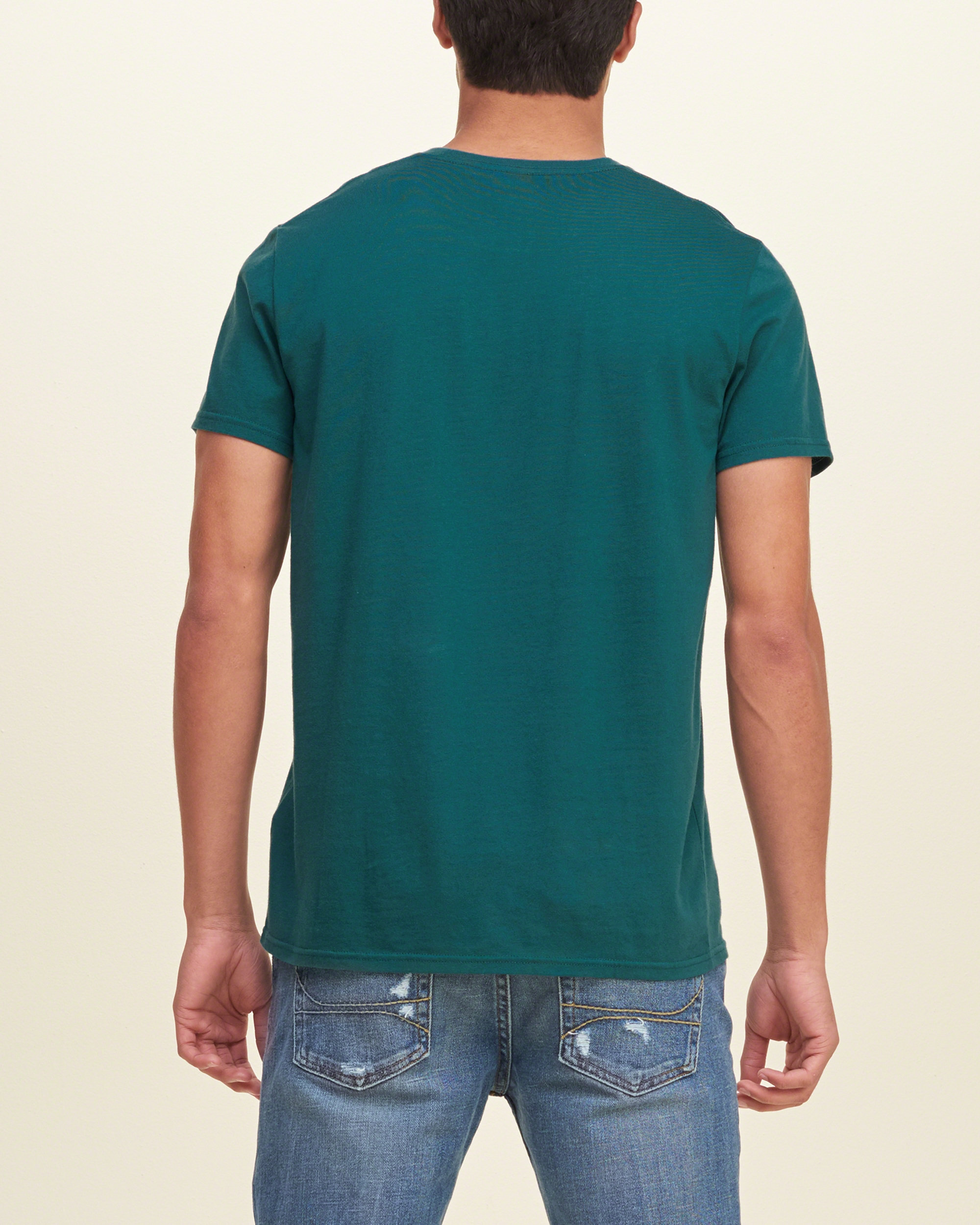 Hollister must have crew t shirt in green for men lyst for Must have dress shirts