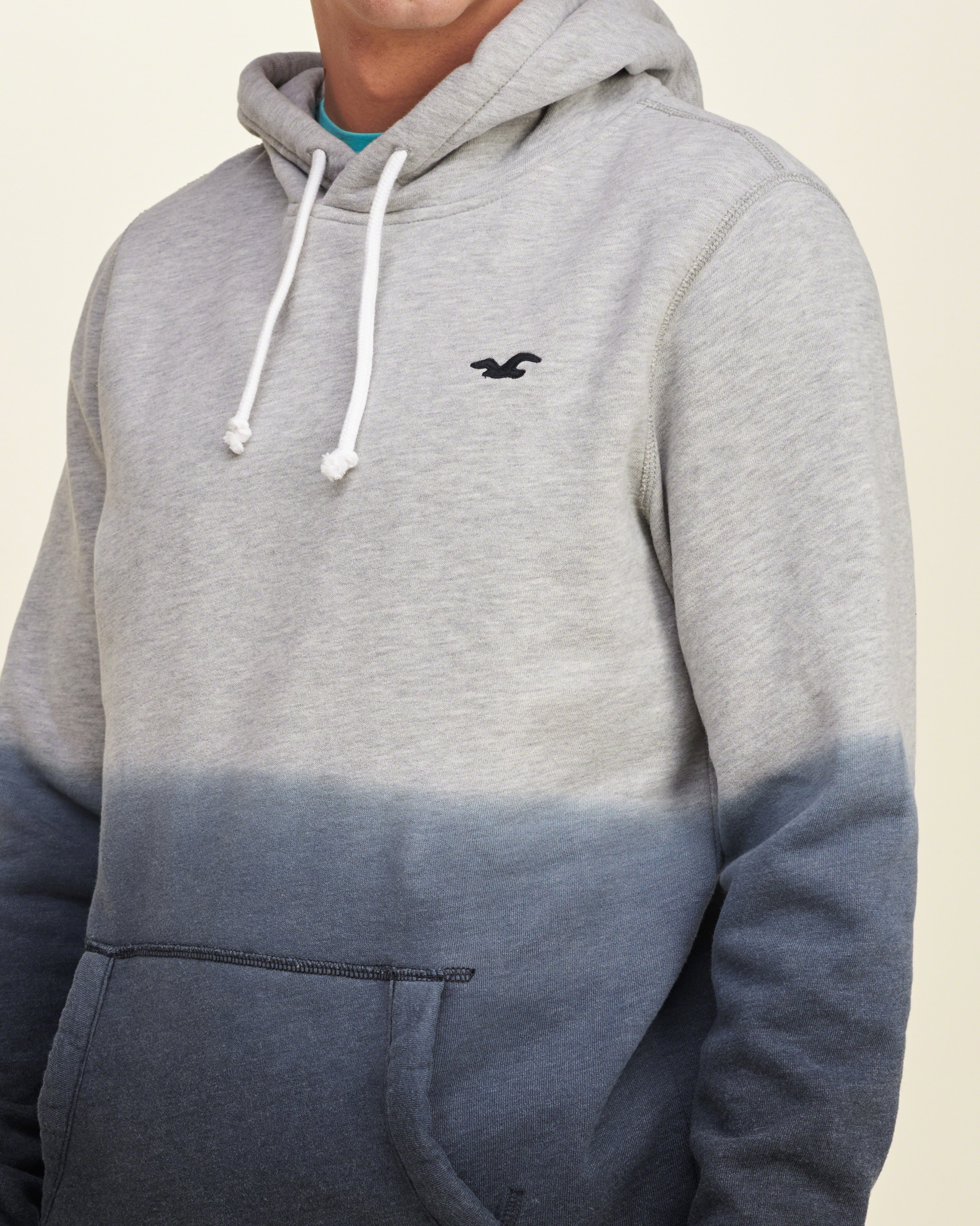 Hollister Iconic Dyed Hoodie in Gray for Men | Lyst