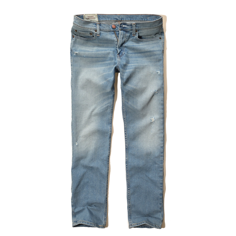 Hollister Slim Straight Jeans in Blue for Men | Lyst