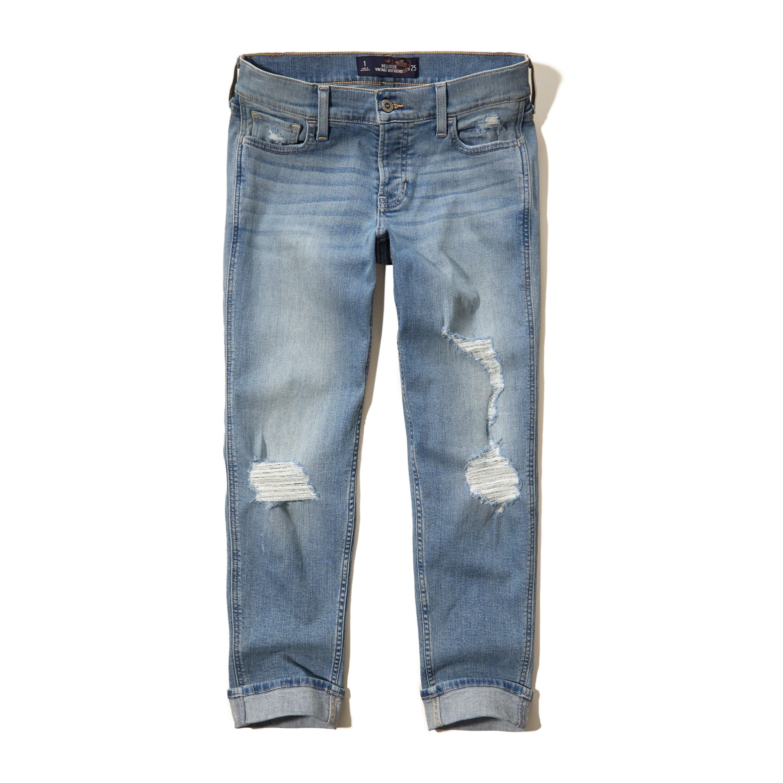 Lyst - Hollister Boyfriend Jeans in Blue