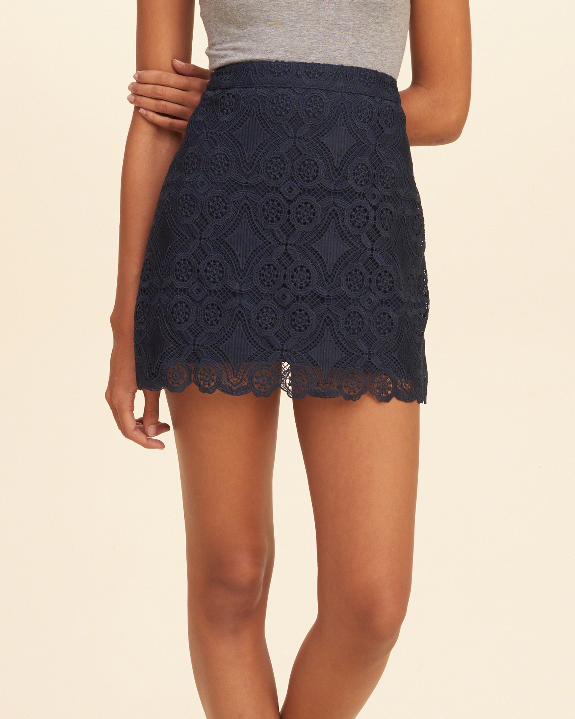 Hollister Lace A-line Skirt in Blue | Lyst
