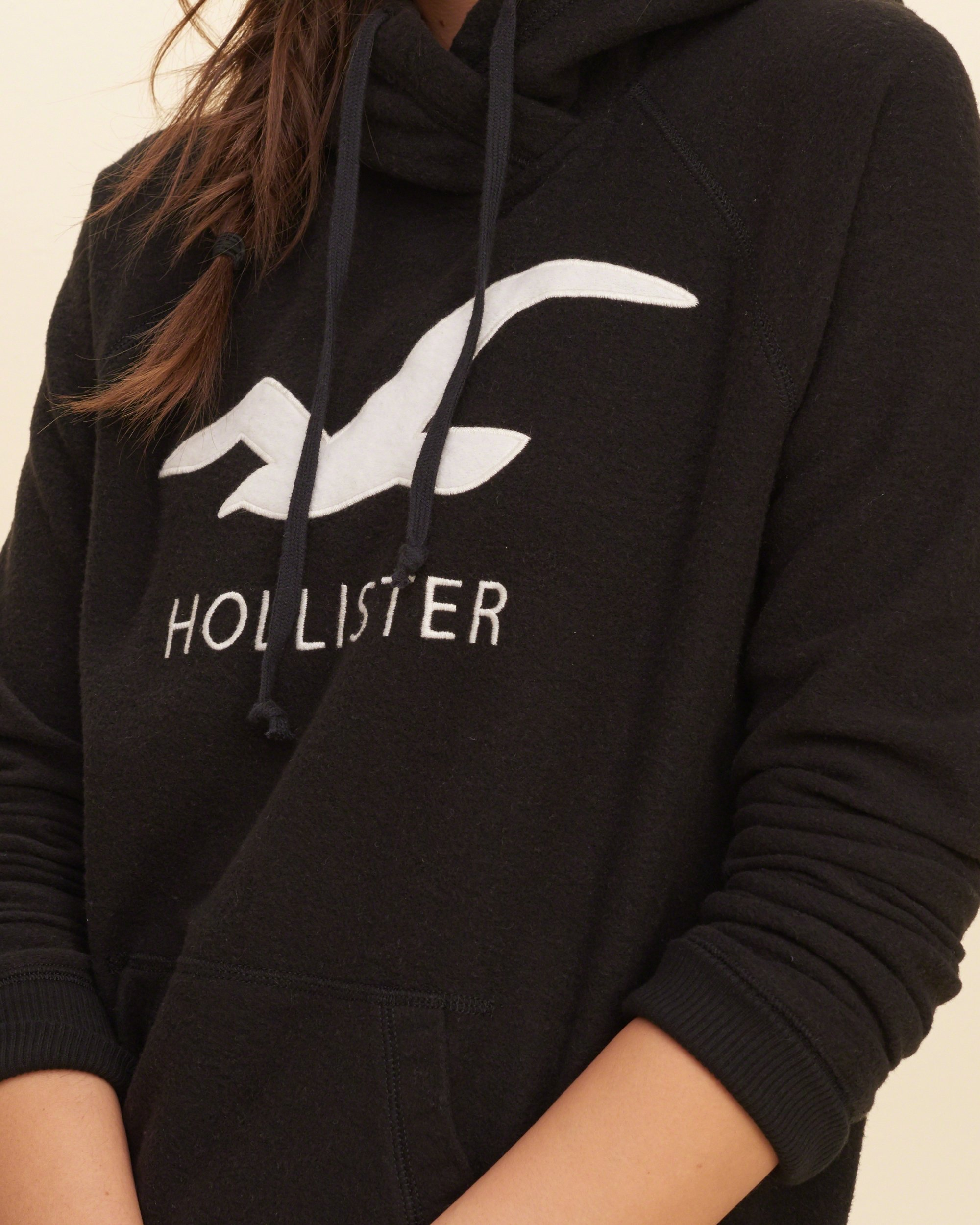 Hollister Sweaters Hollister Hoodies Hollister Shirts Hollister Jacket Hollister Pants Hollister Jeans: Hollister Logo Graphic Hoodie In Black