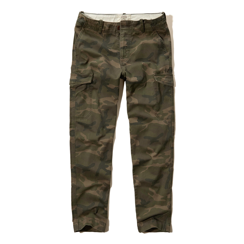 Hollister Slim Straight Cargo Pants in Green for Men | Lyst