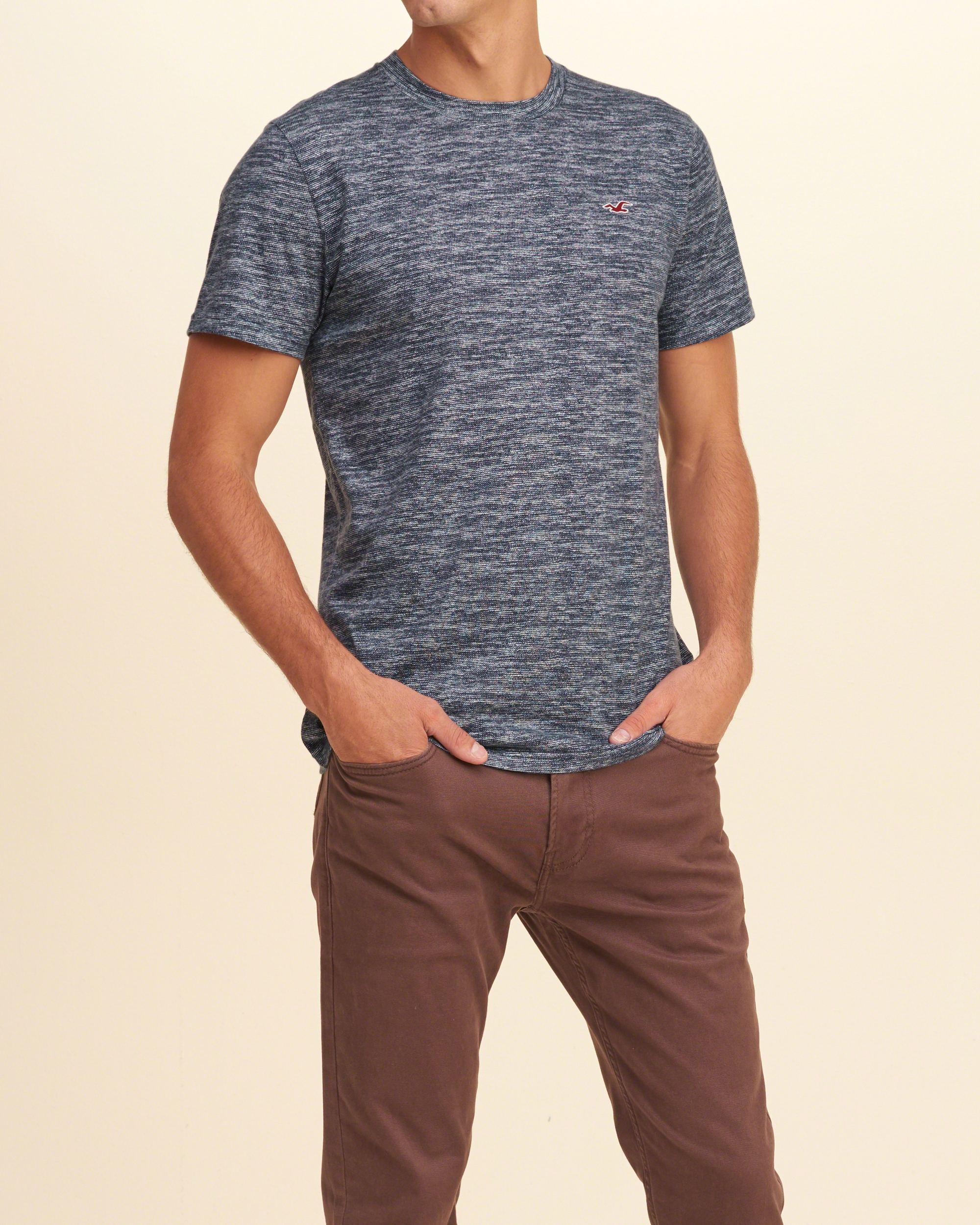 Lyst hollister must have crew t shirt in blue for men for Must have dress shirts