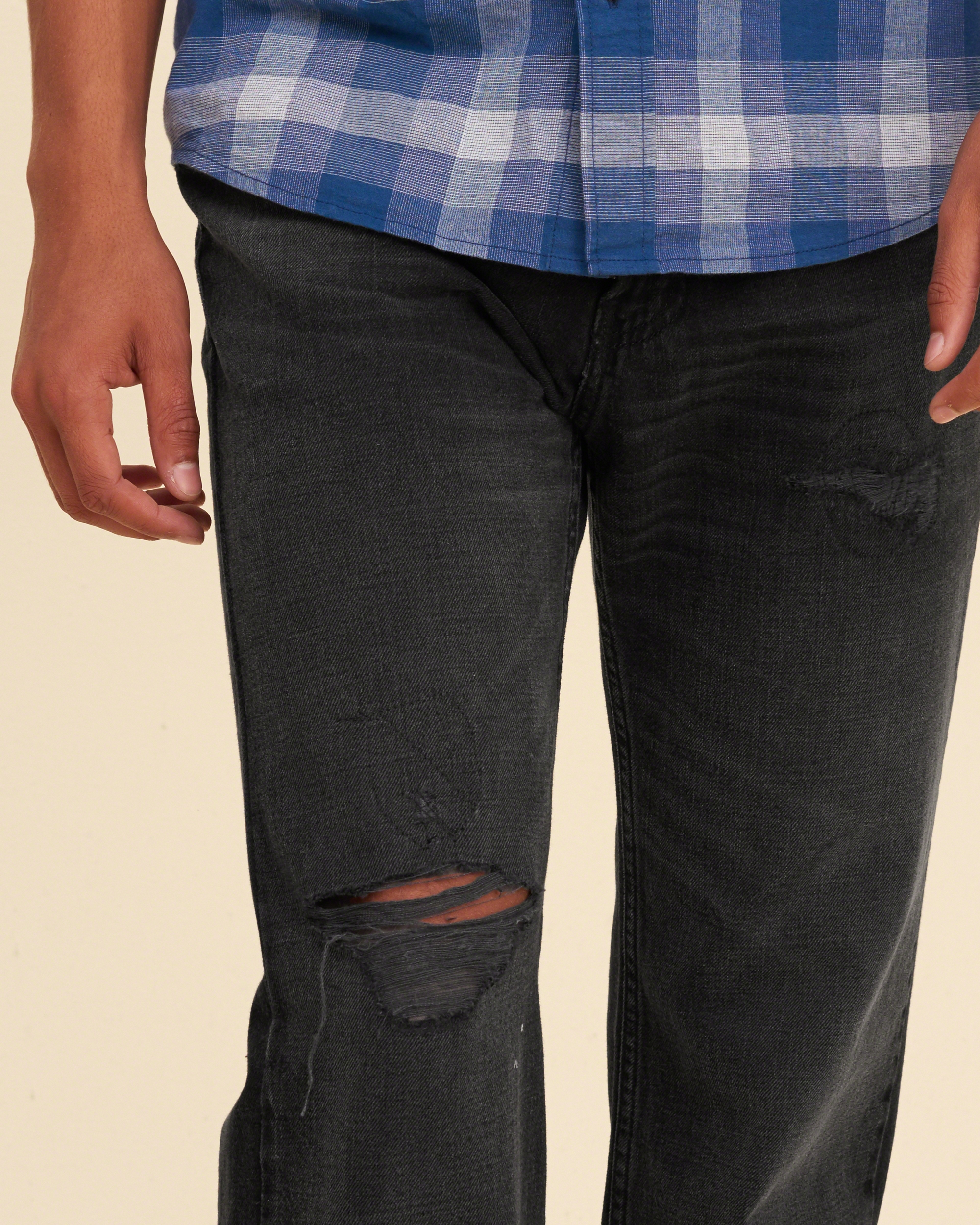 Hollister Classic Straight Jeans in Black for Men   Lyst
