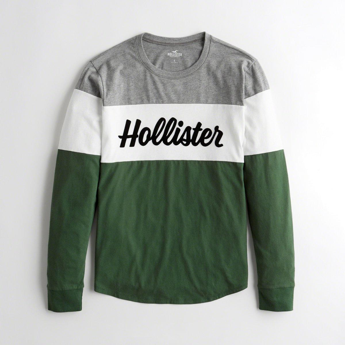 e237bd9c Lyst - Hollister Girls Colorblock Logo Graphic Tee From Hollister in ...