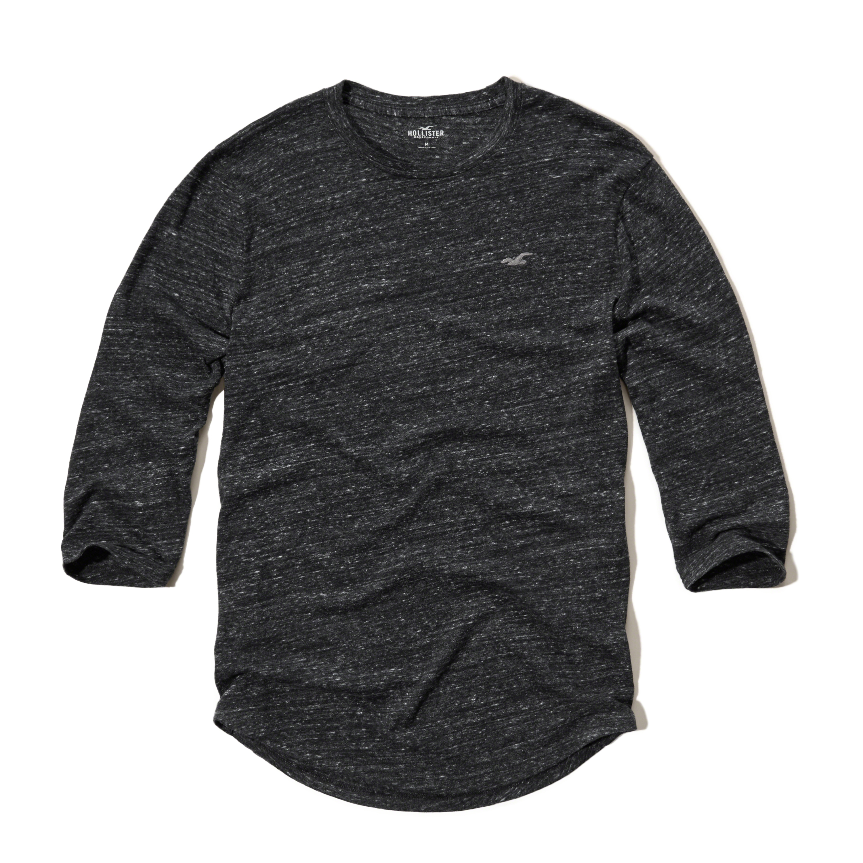 Lyst Hollister Three Quarter Sleeve Crew T Shirt In