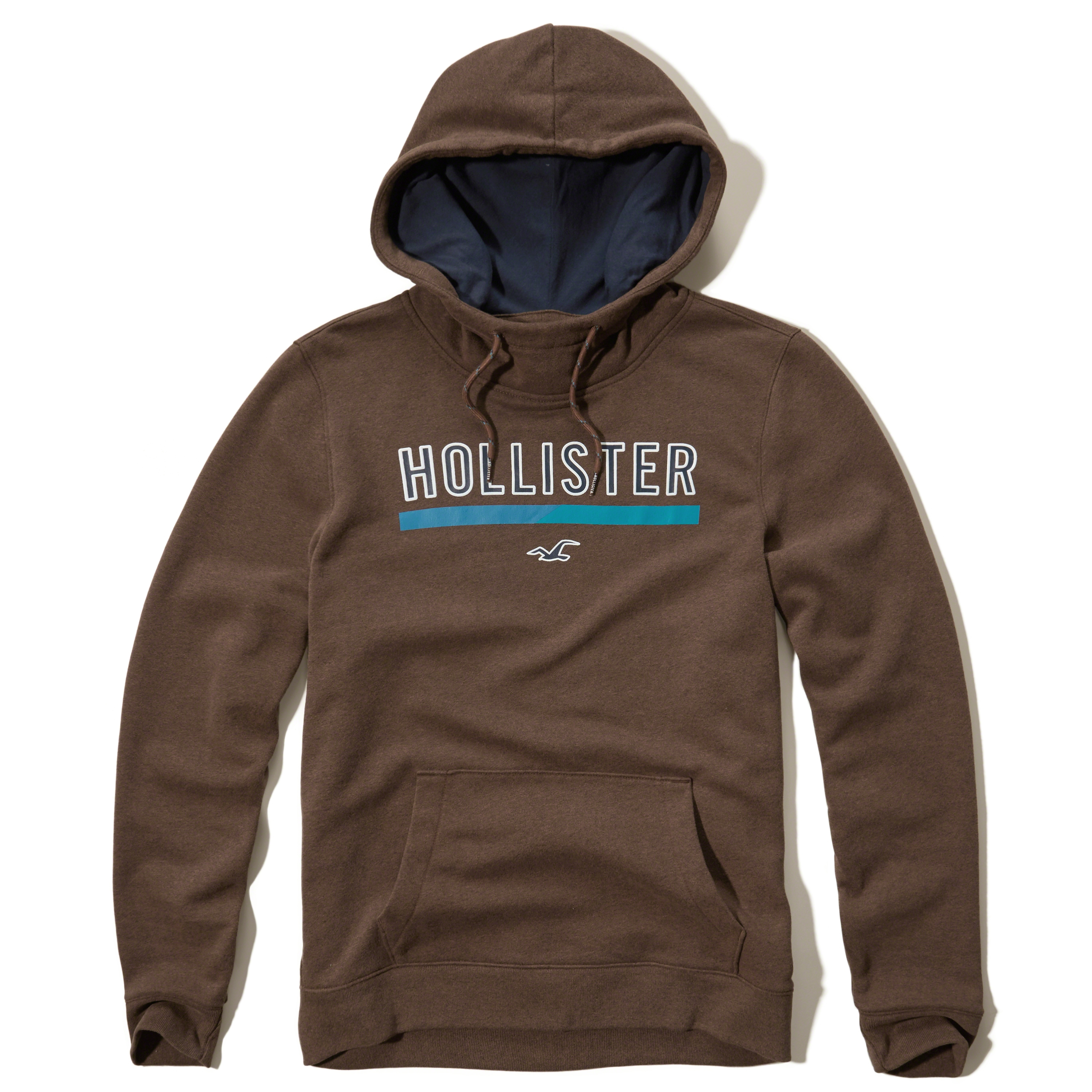 Hollister Sweaters Hollister Hoodies Hollister Shirts Hollister Jacket Hollister Pants Hollister Jeans: Hollister Printed Logo Graphic Hoodie In Brown For Men