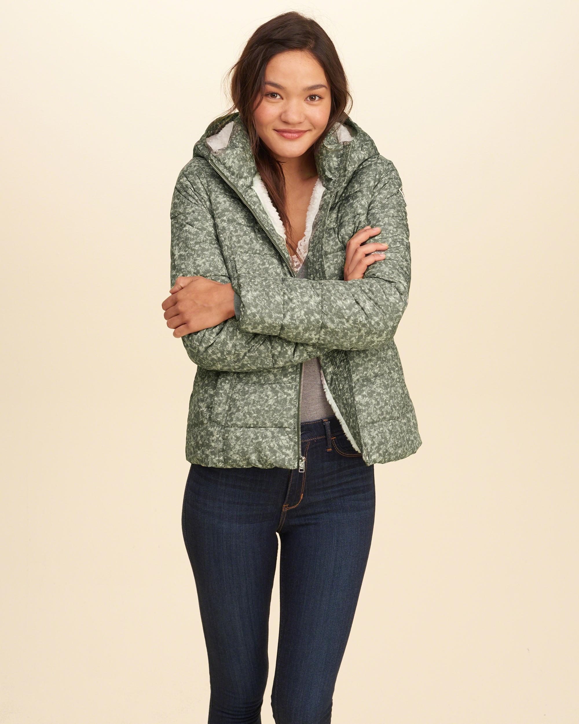 Lyst - Hollister Sherpa Lined Puffer Jacket