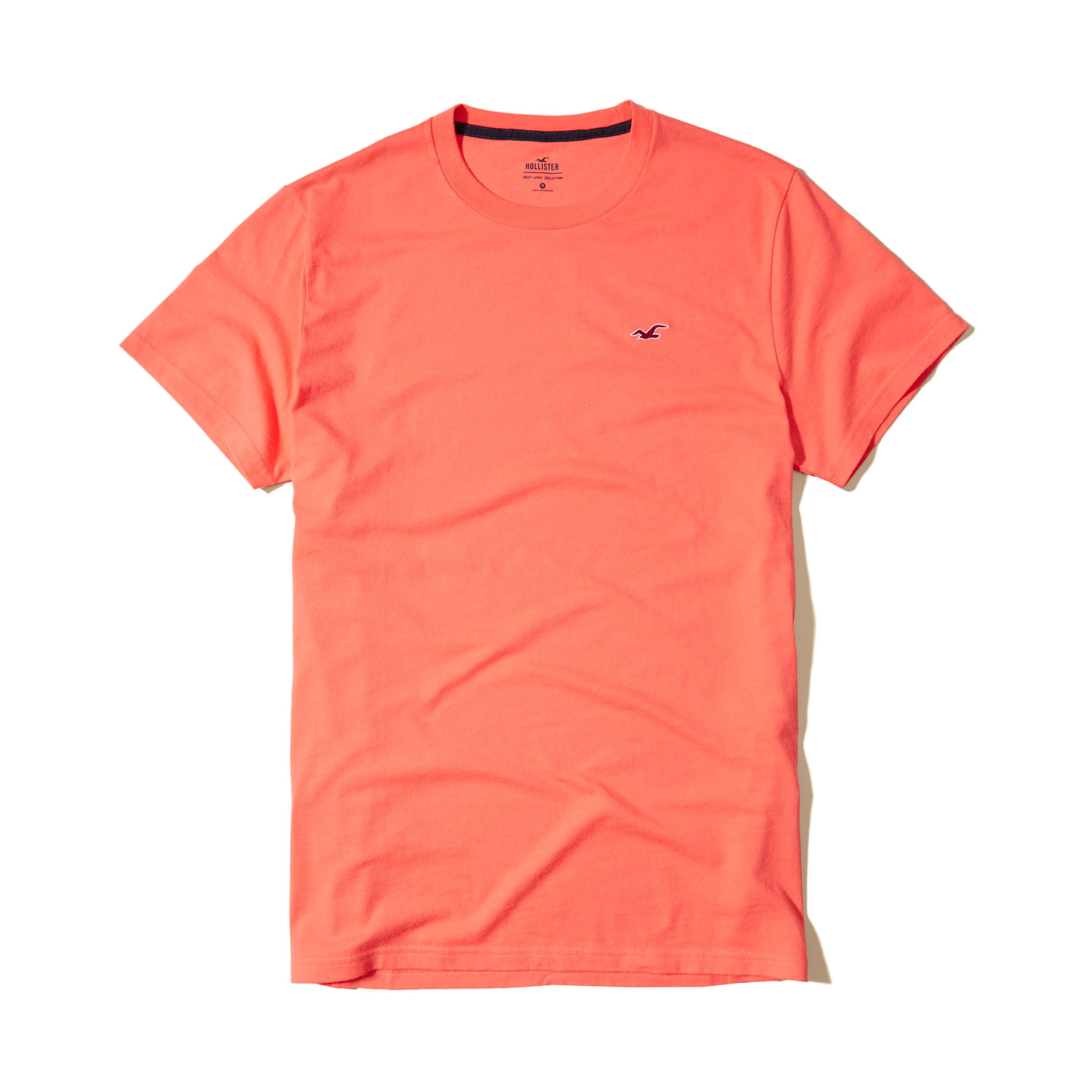 Lyst hollister must have crew t shirt in orange for men for Must have dress shirts