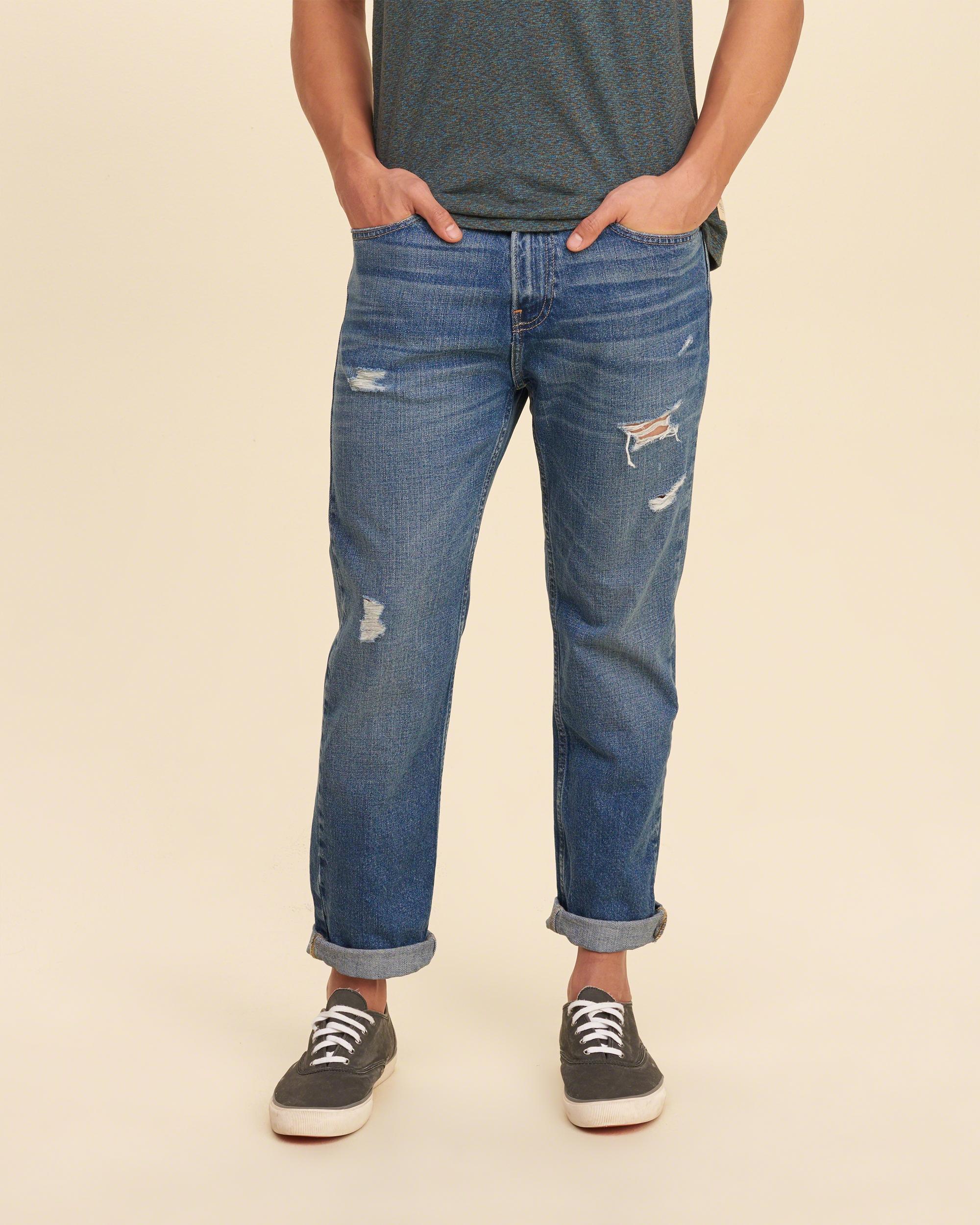 Lyst - Hollister Vintage Straight Jeans in Blue for Men