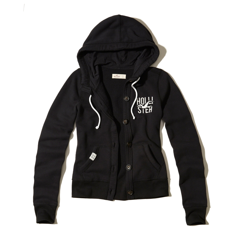 Black hollister hoodie