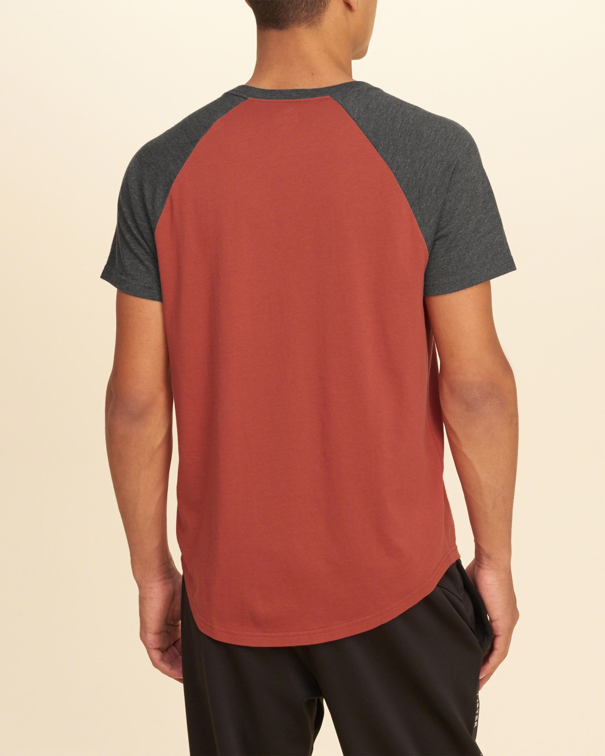 Hollister Must-have Colorblock Raglan T-shirt in Red for ...