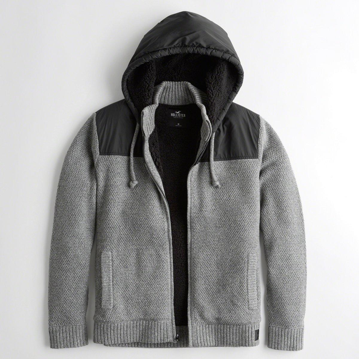 2ffb146e53 Lyst - Hollister Guys Sherpa-lined Sweater Jacket From Hollister in ...