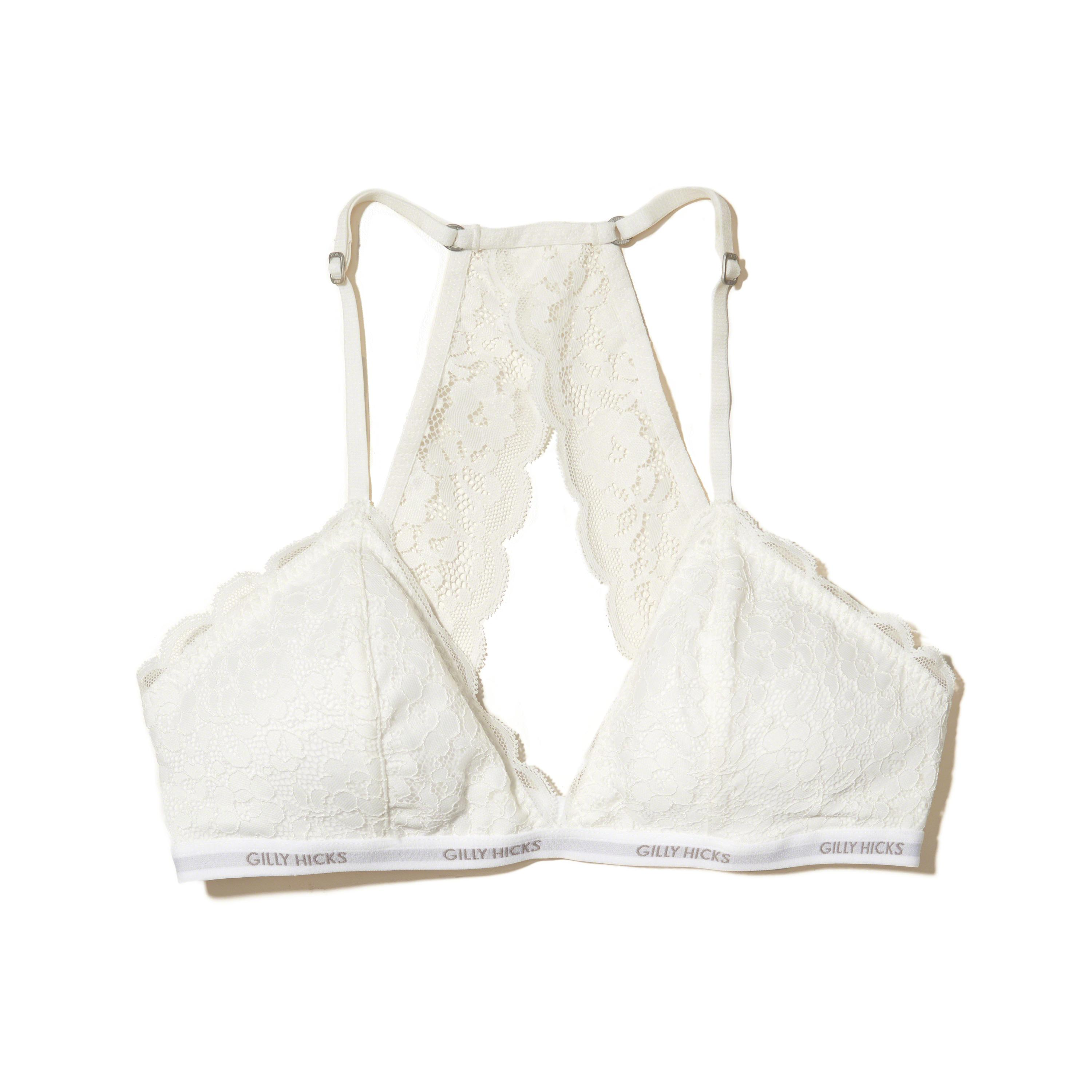 ef8b687fa03a0 Hollister Lace Racerback Triangle Bralette With Removable Pads in ...