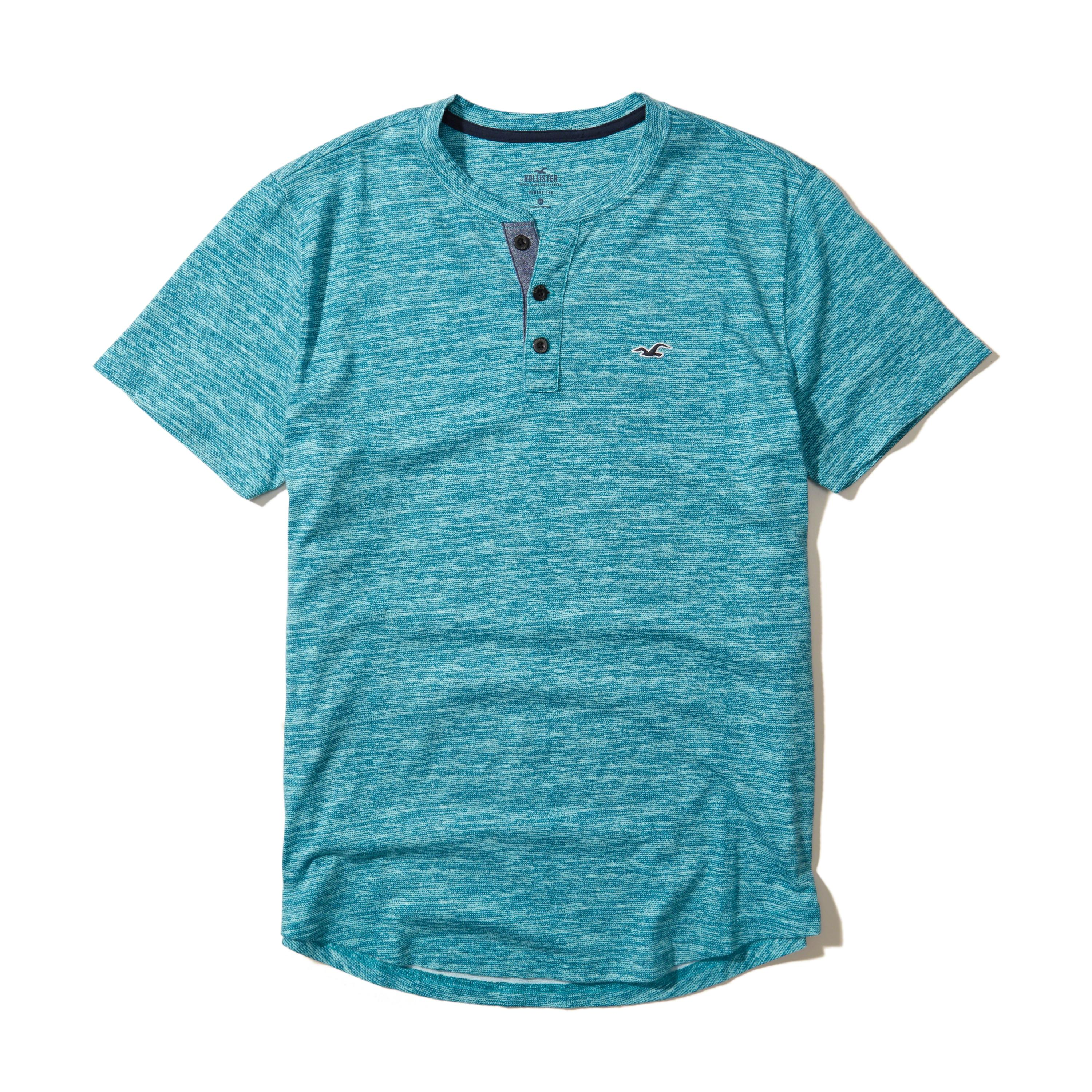Lyst hollister must have henley in blue for men for Must have dress shirts
