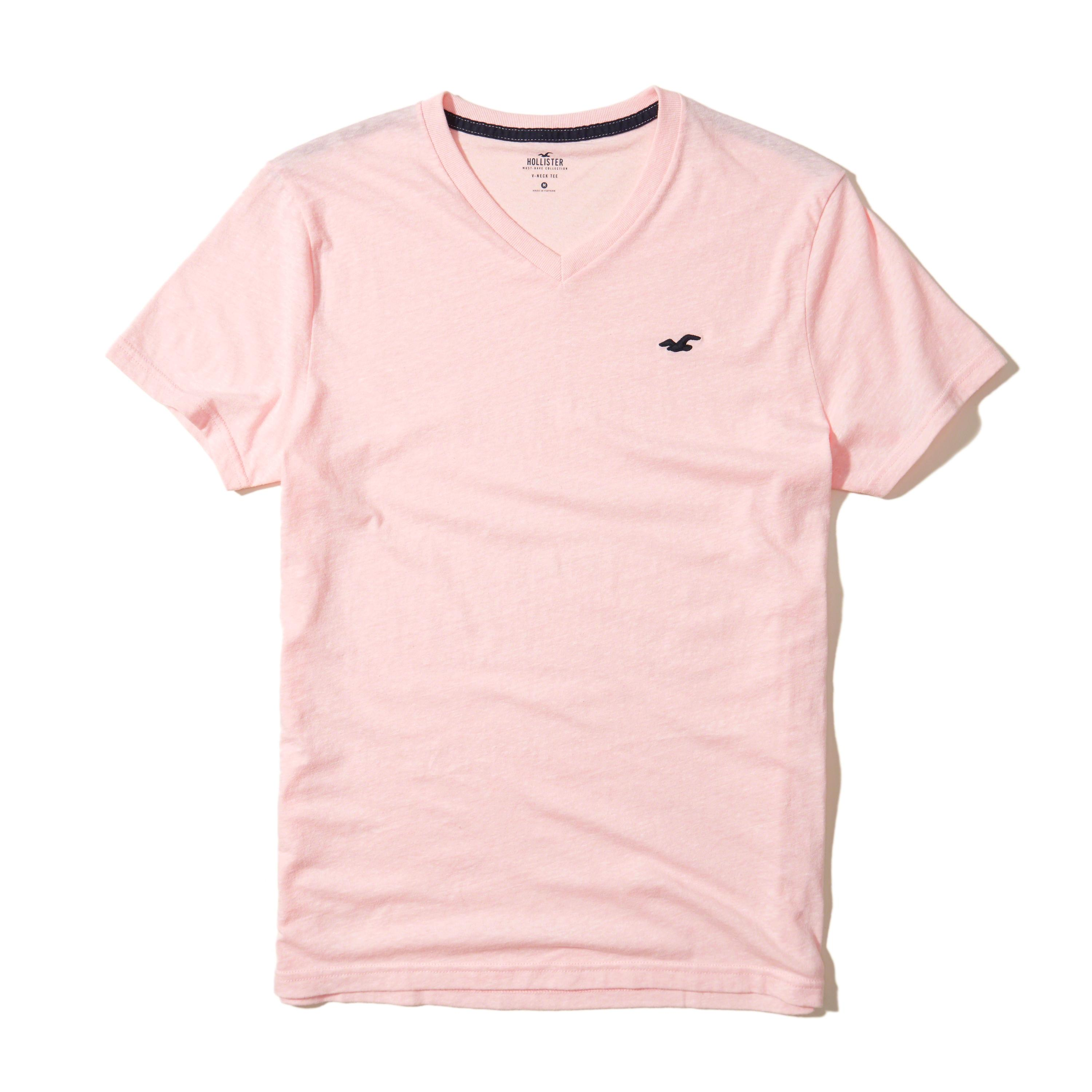 Lyst hollister must have v neck t shirt in pink for men for Must have dress shirts
